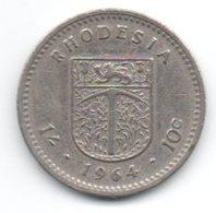 Rhodesia 10 Cents 1964 - Rhodesia