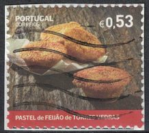 Portugal 2018 Oblitéré Sur Fragment Used Dessert Traditionnel Pastel De Feijão De Torres Vedras SU - 1910-... République