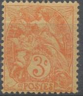 Type Blanc. 3c Orange Papier GC (IB) Y109e - France