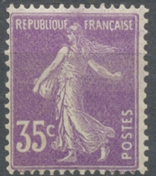 Type Semeuse Fond Plein Sans Sol, Grasses. 35c. Violet (I) Y142 - France