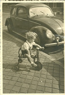 Foto Photo (6,5 X 9,5 Cm)   VW Kever Volkswagen En Driewieler Tricycle - Automobiles