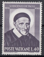 Vaticano 1960 Uf. 295 San Vincenzo De Paoli Nuovo MNH - Cristianesimo