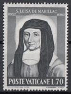Vaticano 1960 Uf. 296 Santa Luisa De' Marillac Nuovo MNH - Cristianesimo