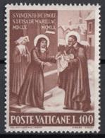 Vaticano 1960 Uf. 297 San Vincenzo De Paoli - Santa Luisa De' Marillac Nuovo MNH - Cristianesimo