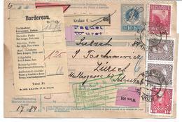 1699g: Paketkarte Krakau Nach Zürich, Komplette Österreich- Ganzsache - ....-1919 Übergangsregierung