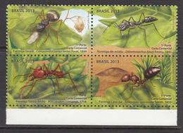 2013 Brazil Brasil Ants Insects  Complete Block Of 4 MNH - Brazilië