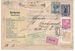 1699f: Paketkarte Krakau Nach Zürich, Komplette Österreich- Ganzsache - ....-1919 Übergangsregierung