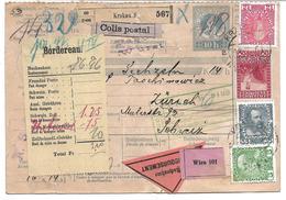 1699e: Paketkarte Krakau Nach Zürich, Komplette Österreich- Ganzsache - Postwaardestukken