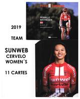 CARTES CYCLISME TEAM SUNWEB WOMENS  2019 ( 11 CARTES ) - Cyclisme