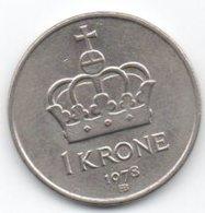 Norvegia Norge 1 Krone 1978 - Norvegia