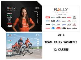 CARTES CYCLISME TEAM RALLY CYCLING WOMENS  2018 ( 12 CARTES ) - Cyclisme