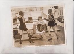 AQUITANIA LIVERPOOL NEWEST SPORT OF TRANS ATLANTIC TRAVELERS FENCING ATLANTIC SS   21*16CM Fonds Victor FORBIN 1864-1947 - Barcos