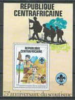 Centrafricaine Rép. Bloc-feuillet YT N°53 Scoutisme Neuf/charnière * - Central African Republic