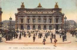 75 - PARIS - La Place De L'Opéra Et La Station Du Métropolitain - Places, Squares