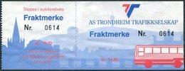 Norway AS TRONDHEIM TRAFIKKSELSKAP Bus 14 Kr. Freight Parcel Stamp Autobus Paketmarke Frachtmarke Norwegen Colis Norvège - Bussen