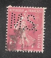 Perforé/perfin/lochung France No  278B  M.S. Office Commerc. Pharmaceutique (118) - Francia