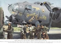 Décoration D'un B17 Document Original Américain De 1948 - Aviation