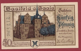 Allemagne 1 Notgeld 50 Pfenning Stadt Saalfeld A Saale Dans L 'état Lot N °4440 - Collections