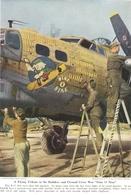 Décoration D'un Bombardier B17 Document Original Américain De 1948 - Aviation
