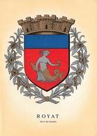 63 Armoiries Blason De La Ville De Royat (2 Scans) - Royat