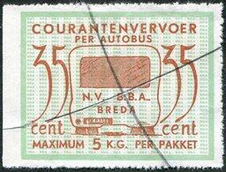 Netherlands B.B.A. Breda 35 Cent Private BUS Parcel Stamp Autobus Paketmarke Niederlande Colis Pays-Bas Nederland BBA - Bussen