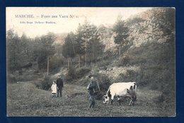 Marche En Famenne. Fond Des Vaux. Paysan Et Sa Vache. Promeneurs. 1912 - Marche-en-Famenne