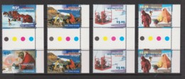 Australian Antarctic 1997 ANARE Anniversary Set Of 4 Gutter Pairs MNH - Unused Stamps