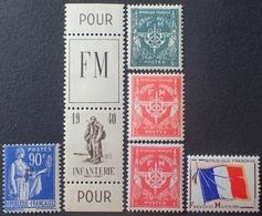 R1615/563 - 1939/1964 - FM - N°10 à 13 NEUFS** - Franchise Militaire (timbres)