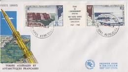 Kerguelen  22 AVR 68  PA 16 A  Premier Jour Sur FDC (fusées Sondes) - Französische Süd- Und Antarktisgebiete (TAAF)