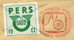 Netherlands GADO Groningen 15 Cent BUS Parcel Stamp On Press Meter Cover Autobus Paketmarke Colis Persbrief Nederland - Bussen