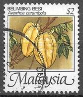 1999 $2 Tropical Fruits- Averrhoa Carambola, Used - Malaysia (1964-...)
