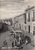 SANLURI-CARBONIA?-VIA CARLO FELICE-VESPA PIAGGIO=FANALE BASSO=DITRIBUTORE AGIP-CARTOLINA VERA FOTO VIAGGIATA IL 9-8-1960 - Carbonia