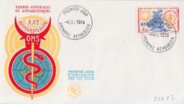 Kerguelen  4 MAI 68  N° 26  Premier Jour Sur FDC (22° Anniversaire O.M.S. Caducée) - Französische Süd- Und Antarktisgebiete (TAAF)