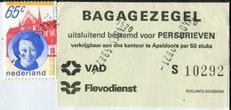 Netherlands VAD Flevodienst Apeldoorn Local BUS Parcel Stamp On Press Cover Autobus Paketmarke Colis Persbrief Nederland - Bussen