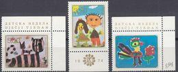 JUGOSLAVIJA - 1974 - Serie Completa Nuova MNH Formata Da 3 Valori: Yvert 1458/1460, Settimana Europea Dell'infanzia. - 1945-1992 Repubblica Socialista Federale Di Jugoslavia