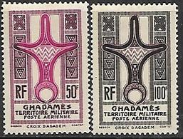 Ghadames  1949  Sc#3NC1-2  50fr MLH & 100fr  MNH  2016 Scott Value $35 - Fezzan & Ghadames