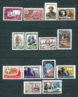 USSR, 1961, 14 Unused ** MNH Stamps MiNr 2528, 2529, 2544, 2545, 2550-52, 2558 A, 2559-62, 2565, 2570 - 1923-1991 URSS