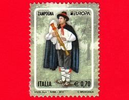 ITALIA - Usato - 2014 - Europa - Zampogna - Strumenti Musicali - Bagpipe - 0,70 - 2011-...: Usati