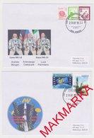 MAKMARKA SPACE RUSSIA 2019.07.20 START SOYUZ MS-13 BAIKONUR SET OF 2 ENVELOPES  (D-63/64) - Cartas