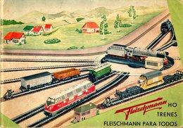Catalogue FLEISCHMANN 1958-59 Trenes Electricos HO O Maquinas De Vapor FALTA LA CUBIERTA - En Espagnol - Livres Et Magazines