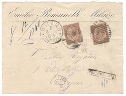 20766 - De MILAN Pour LYON - 1878-00 Umberto I