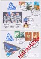 MAKMARKA SPACE RUSSIA 2019.03.15 START SOYUZ MS-12 BAIKONUR SET OF 2 ENVELOPES  (D-67/68) - Cartas