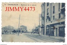 CPA Dentelées - Boulevard De La Liberté Bien Animé En 1924 - CASABLANCA Maroc - N° 12 - Edit. Librairie Baudinière - Casablanca