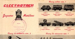 Catalogue ELECTROTREN Hoja 1950s Via O 35 Mm - En Espagnol - Other