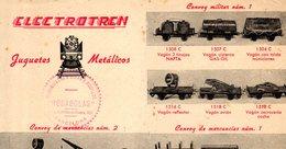 Catalogue ELECTROTREN Hoja 1950s Via O 35 Mm - En Espagnol - Livres Et Magazines