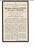 Dp 8128 - ADELE MANIER - NEE A COMINES - DECEDEE 1930 - Images Religieuses
