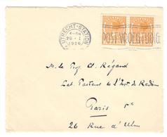 20782 - D'UTRECHT Pour PARIS - Periodo 1891 – 1948 (Wilhelmina)