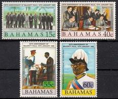 Bahamas MiNr. 768/71 ** 25 Jahre Demokratisches Wahlrecht - Bahamas (1973-...)
