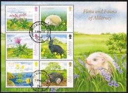 Alderney MiNr. Bl. 38 O Einheimische Pflanzen Und Tiere - Alderney