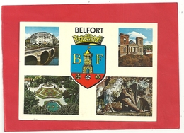 CPM. BELFORT . MULTIVUES  . CARTE ECRITE AU VERSO - Belfort - Ville